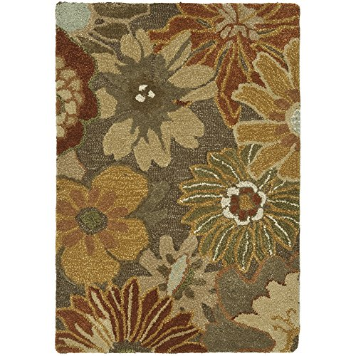 Safavieh Soho Collection SOH820A Handmade Brown and Multicolored New Zealand Wool Area Rug, 2 feet by 3 feet (2