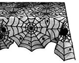 DII Halloween Lace Tablecloth for Halloween Parties, Decor, and Spooky Meals - 54 x 72 , Black