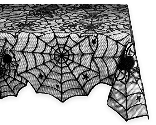 [DII Halloween Lace Tablecloth for Halloween Parties, Décor, & Spooky Meals - 54 x 72
