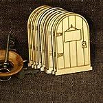 10pcs Unpainted Plaque Laser Cut Wood...