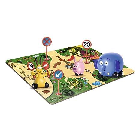 Famosa- Disney - 700009062 - Figurine - En Route pour la Jungle - 3 Personnages + Petit Circuit Carton