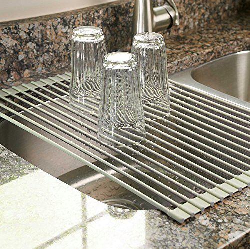 Over the Sink Multipurpose Roll-Up Dish Drying Rack