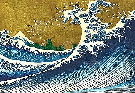 Hokusai Wave Poster Big Wave by Katsushika Hokusai