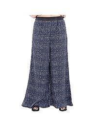 Belomoda Women Elastic Waist Printed Plazzo Pant (NVYPLAZO)
