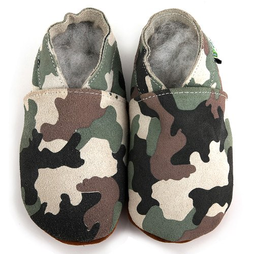 Augusta Baby Soft Sole Leather Camouflage Shoes