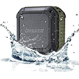 [Best Outdoor Shower Bluetooth Speaker Ever]Omaker M4 Portable Bluetooth 4.0 Speaker with 12 Hour Playtime for Outdoors/Shower (Army Green)