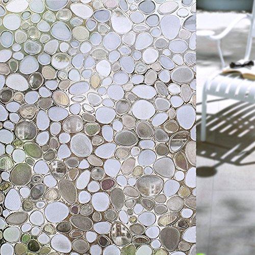 Concus-T-Static-Cling-Vinyle-haut-de-gamme-3D-statique-Pebbles-verre-Film-dcoratif-pour-fentre-45x200cm