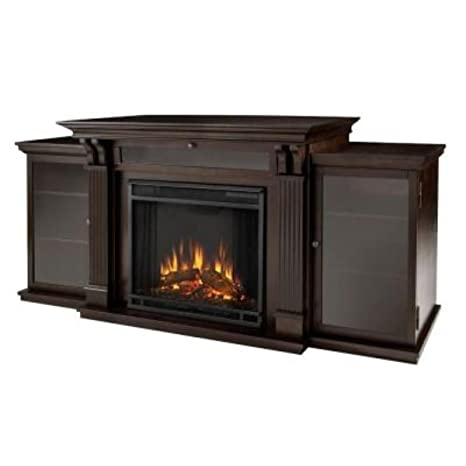 Calie Entertainment Gel Fireplace in Dark Walnut