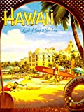 TRAVEL TOURISM HAWAII SURF BEACH SUNSHINE WAIKIKI HOTEL RESORT PACIFIC USA 30X40 CMS FINE ART PRINT ART POSTER BB9882