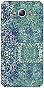 Snoogg Paisley formation Hard Back Case Cover Shield ForSamsung Galaxy E7