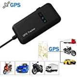 GPS Tracker for Vehcile,Hangang GPS Tracker Real Time GPS Tracking Vehicle Locator GPS/GSM / GPRS/SMS Tracker Antitheft Car Motorcycle Bike GPS Tracking Device GT02A (Color: GT02A)