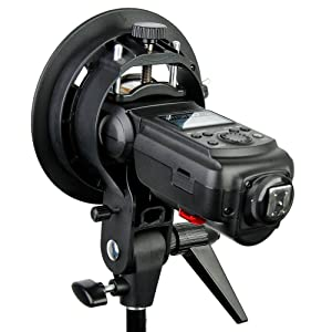 PRO Godox S-type S-EC Speedlite Bracket Holder for Elinchrom Mount Speedlite Flash Snoot Softbox