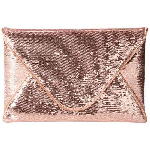 BCBG Harlow Sequin NDO638EV Clutch,Blush,One Size