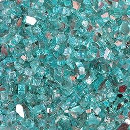 Quarter Inch Caribbean Blue Reflective Fire Glass, 10 Pound Bag by FireGlass+