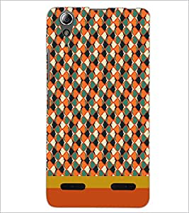 PrintDhaba Pattern D-1842 Back Case Cover for LENOVO A6000 (Multi-Coloured)