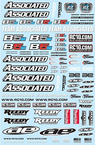Associated Electronics 91537 RC10B5M Sticker Sheet