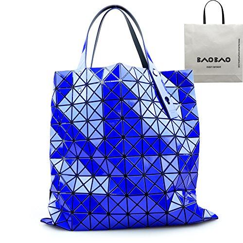 [セット品] ラッピング済 BAO BAO ISSEY MIYAKE PRISM-2 ブルー 10×10 国内正規品 BAOBAO バオバオ イッセイミヤケ プリズム トート バッグ