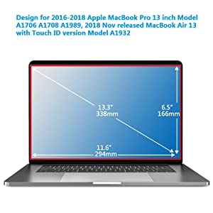 Magnetic Privacy Laptop Screen Filter for MacBook Pro 13 and 2018 MacBook Air 13, Anti Glare & Anti Blue Light Privacy Screen Filter with Webcam Cover (pro13) (Color: pro13)