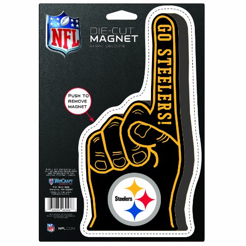 Home Decor Pittsburgh: NFL Pittsburgh Steelers Die Cut #1 Finger Logo Magnet Home