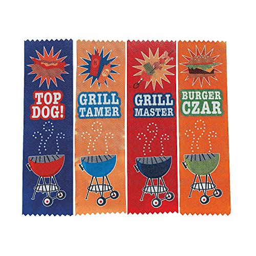 "BBQ Award Ribbons (12 Pack) 7 1/4""."