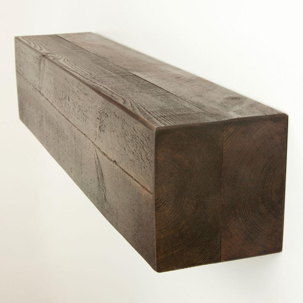 Funky Chunky Furniture 6x6 Rustic Wood Floating Mantel Shelf , Walnut , 130cm       Customer reviews and more news
