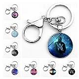 8 Pack Alan Walker Keychain Key Ring Pendant Wallet Handbag Clothing Accessory (Color: Multicolor, Tamaño: 0.98'')