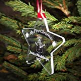 Engraved My First Christmas Bauble, Tree Decorations, Baby's 1st Christmas