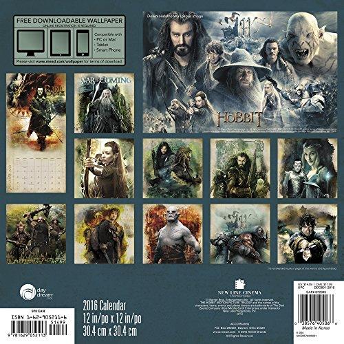 The Hobbit Motion Picture Trilogy 2016 Calendar: Includes Bonus Downloadable Wallpaper