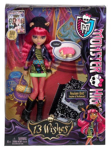 Monster High 13 Wishes Howleen Wolf Doll with Bonus 2013 Monster High 13 Wishes DVD (Monster High Gigi)