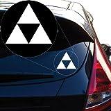 Yoonek Graphics Zelda Triforce Vinyl Decal Sticker for Car Window, Laptop and More. # 922 (4
