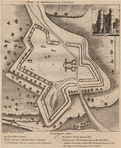 Donnington Castle. Ruins. 'Drinking Room'. Civil War Works.Berkshire. Grose 1776