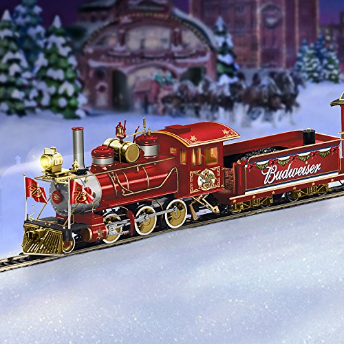 Exclusive Budweiser Illuminated Holiday Express Train Set by Hawthorne Village
