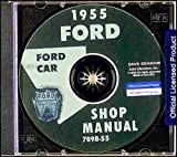 img - for 1955 FORD FACTORY REPAIR SHOP & SERVICE MANUAL CD - INCLUDE: Mainline, Customline, Fairlane, convertibles, Station Wagons, Courier, and Thunderbird. 55 book / textbook / text book
