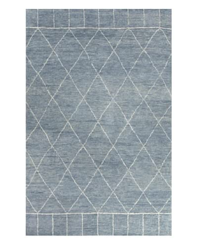 Jaipur Rugs Hand-Knotted Moroccan Pattern Rug, Pastel Blue/Ivory, 5' x 8'