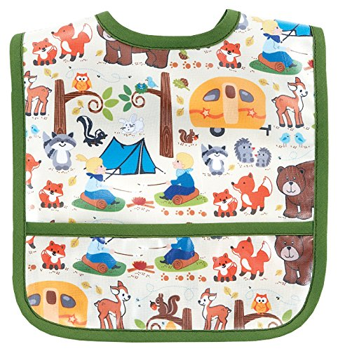 AM PM Kids! Laminated Bib, Camping, Small