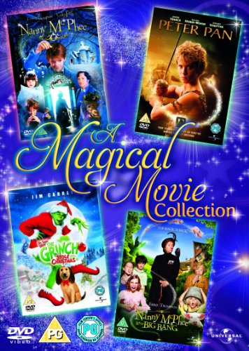 The Grinch (2000) / Peter Pan (2003) / Nanny Mcphee / Nanny Mcphee And The Big Bang [DVD] (Nanny Mcphee And The Big Bang compare prices)