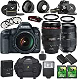 Canon-EOS-5D-Mark-III-223MP-DSLR-with-Canon-EF-24-105mm-f4L-IS-USM-Lens-Tamron-70-300mm-AF-Lens-2pc-32GB-SD-Cards-Extra-Battery-Auxiliary-Lens-Kit-Flash-6pc-Filter-Kit-Case