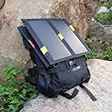 X-DRAGON 14W Solar Panel Charger with PowersIQ™ Fast Charging Technology Rain-resistant and Dirt/Shockproof Dual USB Port Portable Charger Backup for iPhone 6 plus 5S 5C 5 4S 4, iPods, Samsung Galaxy S5 S4, S3, S2, Note 3, Note 2, Most Kinds of Android Smart Phones, Windows phone and More Other Devices