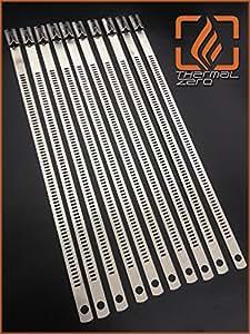 Amazon.com: Snap Strip Stainless Steel Zip Tie 10 Pack 14