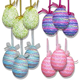 12 Hanging Easter Eggs 4 1/2\