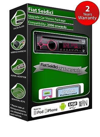 Fiat Seidici de lecteur CD et stéréo de voiture radio Clarion jeu USB pour iPod/iPhone/Android