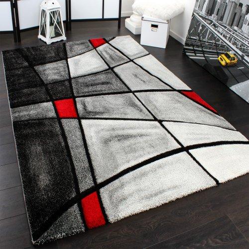 Tappeto design moderno a quadri lavorato a mano con bordo - Tappeto 160x230 ...