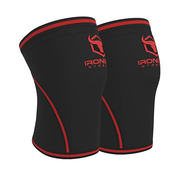 Knee Sleeves 7mm (1 Pair) - High Performance Knee Sleeve Support for Weight Lifting, Cross Training & Powerlifting - Best Knee Wraps & Straps Compression - for Men and Women (Black/Red, X-Large) (Color: Black/Red, Tamaño: X-Large)