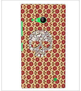 PrintDhaba Skull D-4358 Back Case Cover for NOKIA LUMIA 730 (Multi-Coloured)