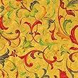 Caspari 8ft Renaissance Foil Gift Wrapping Paper - Gold