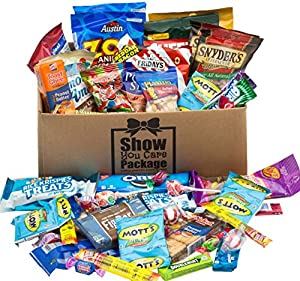 College Care Package (48 Count) With Snack Gifts Best Gift For College Student And Military Care Package