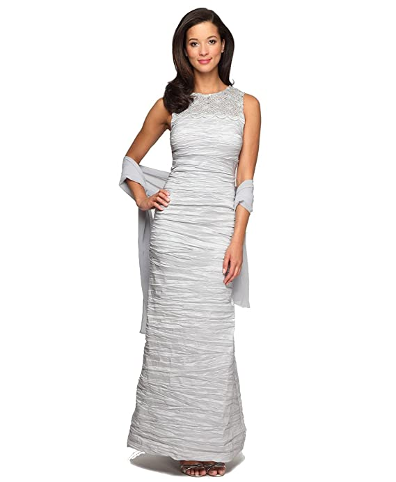 Alex Evenings 166390M Sleeveless Lace with High Neck Royalty Dress