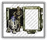 8 Round Stars Wars R2D2 and C3PO Frame Photo Cake Edible Icing Image Cake Decoration Topper