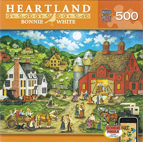 Masterpieces-31562-Bonnie-White-Friday-Night-Hoe-Down-Puzzle-500-Pieces