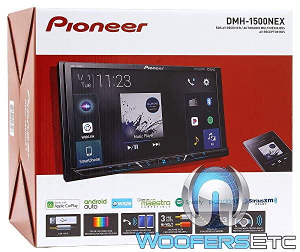 Pioneer DMH-1500NEX Digital Media Receiver with 7 WVGA Display, Apple CarPlay, Android Auto, Built in Bluetooth